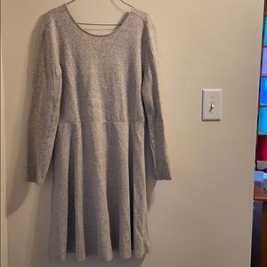 Open Back Casual Dress (marled)